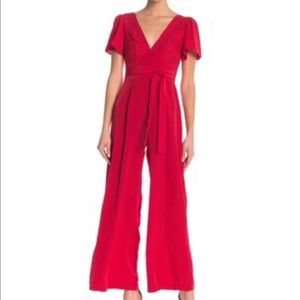 Dresses & Skirts - Red flare jumpsuit